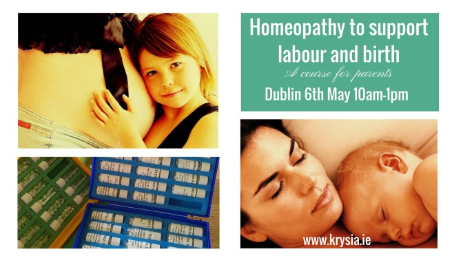 Using homeopathy for childbirth: course